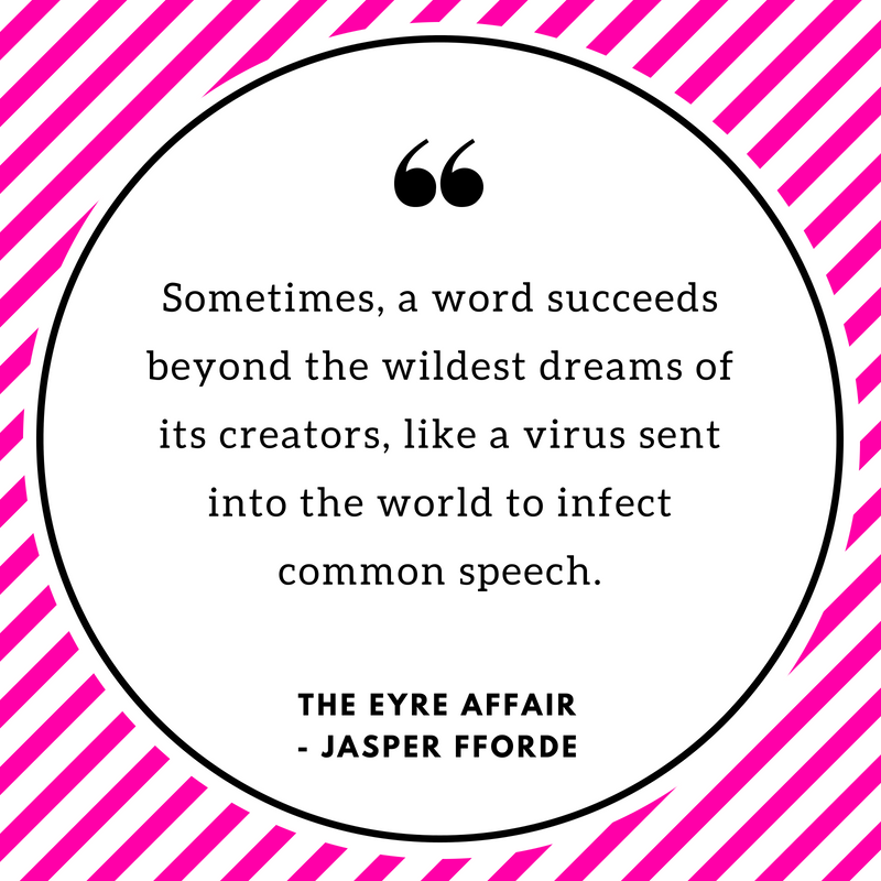 Book Quote The Eyre Affair