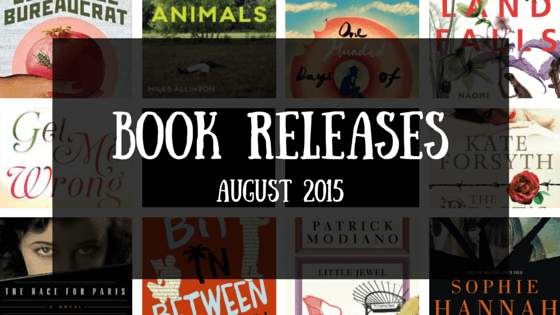 Book releases that caught my eye - August 2015