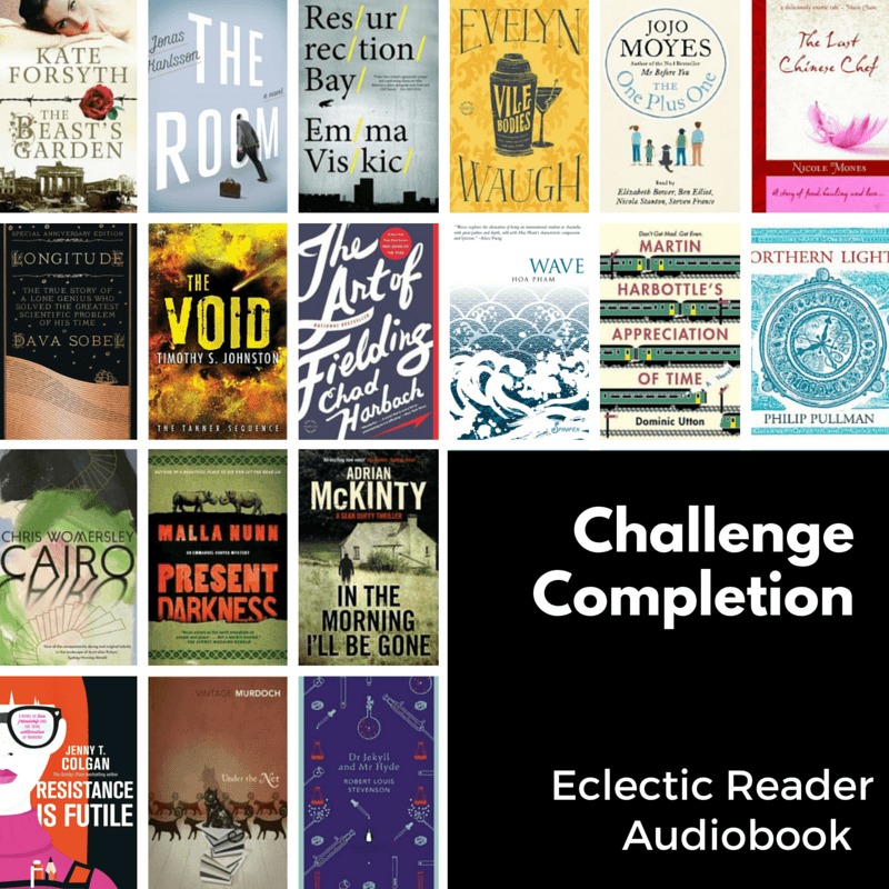 Eclectic Reader & Audiobook Challenge Completion