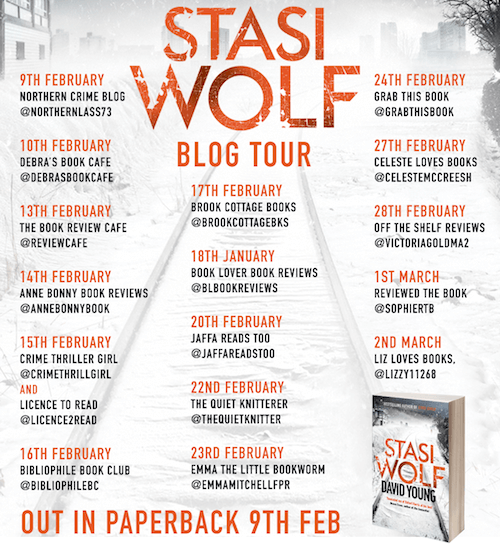 Stasi Wolf David Young book tour