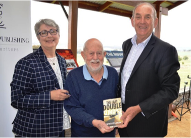 Mayor Bill West Peter Yeldham author of 'The Last Double Sunrise' and For Pity Sake Publishing Principal Jen McDonald