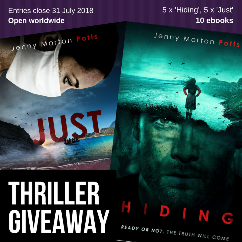 International Thriller Giveaway - Just and Hiding