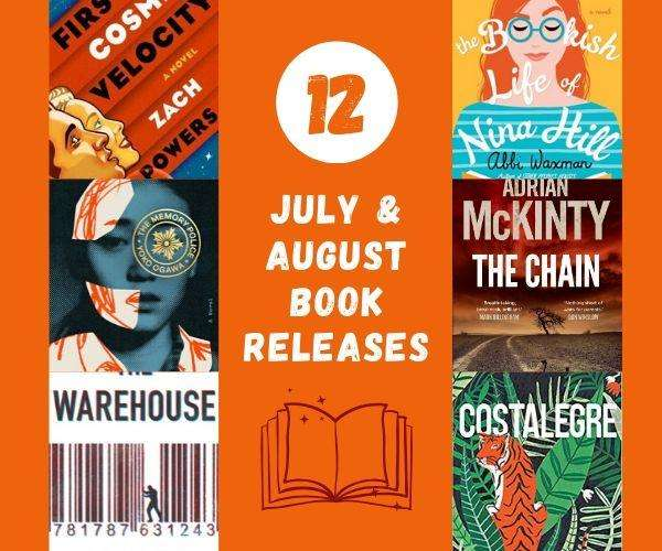 July August 2019 Book Releases