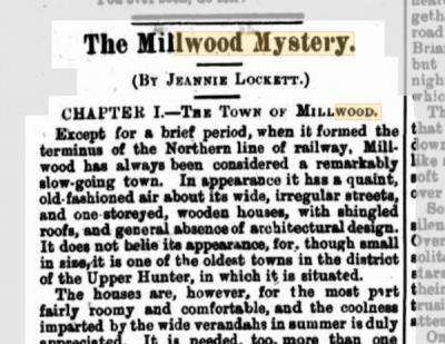 Original serialised copy of The Millwood Mystery, The Town and Country Journal 13 Nov 1886