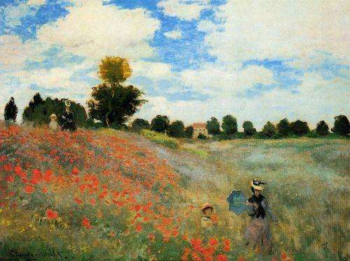 Claude Monet - The Poppy Field near Argenteuil, 1873