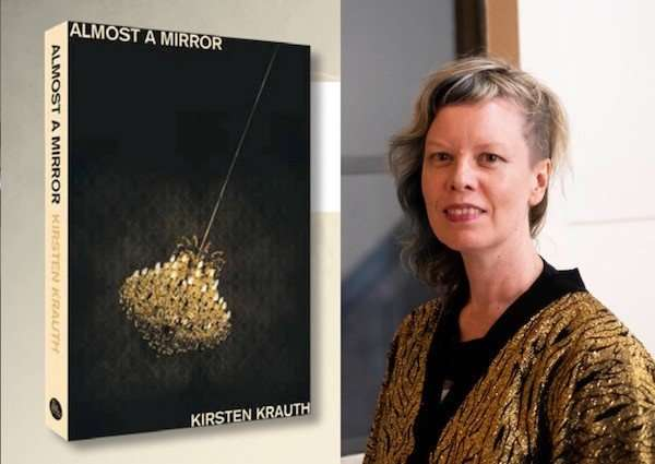 Almost a Mirror, Kirsten Krauth Author Post banner - author photo and book